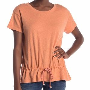 MADEWELL NWT Coral Drawstring Tee XS
